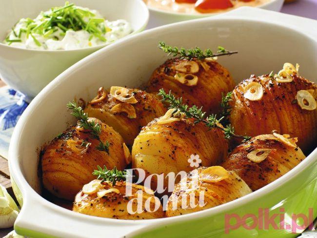 Ziemniaki pieczone z czosnkiem - przepis -Przepis