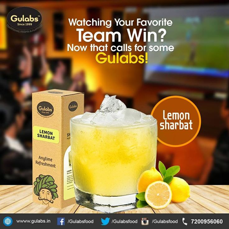 Don't sweat this #IPL season! Chill with #Gulabs #Lemon #Sharbat #drink #beattheheat