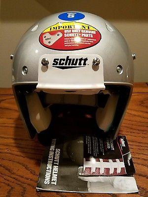 Schutt Youth Recruit Hybrid Silver Small Football Helmet