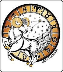 Aries zodiac sign .Horoscope circle. Vector Illustration vector art illustration