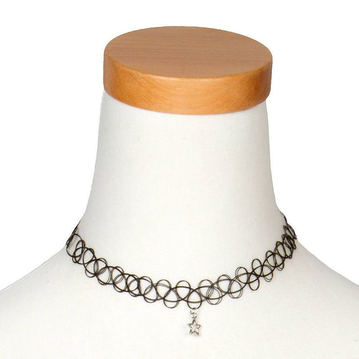 claires.com  tatoo choker with a silver star
