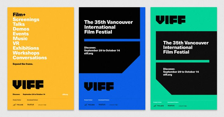 New Logo and Identity for Vancouver International Film Festival by Cause+Affect
