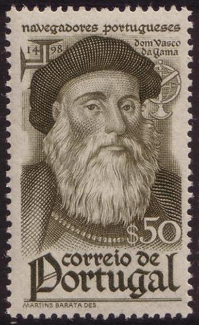 Stamp: Vasco da Gama (1469-1524) (Portugal) (Navigators) Mi:PT 676,Sn:PT 645,Yt:PT 658,Afi:PT 647