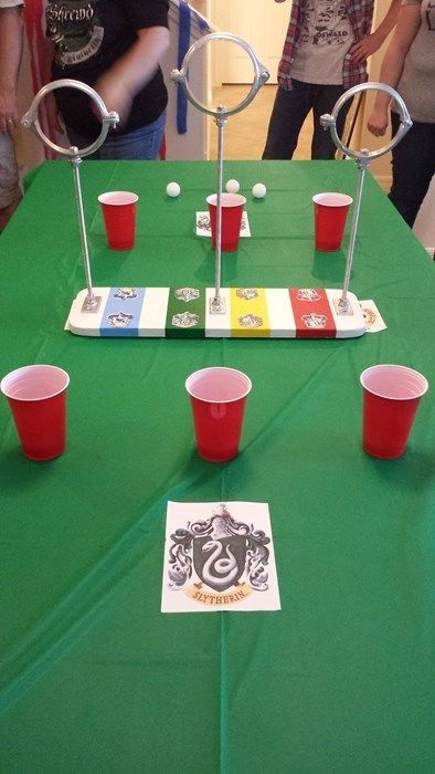 Harry Potter party Quiddich pong game More
