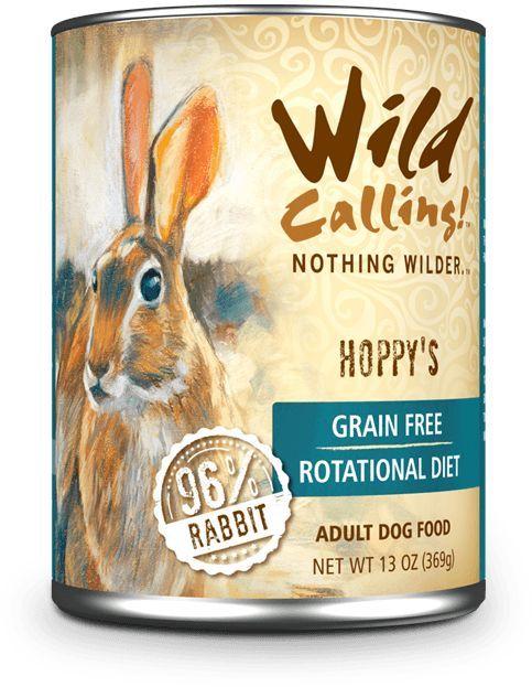 Wild Calling Canned Dog Food Hoppy's™ Rabbit 13oz