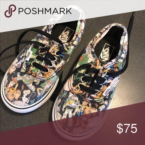 Toy story vans Excellent condition! Super cute for boys Vans Shoes Sneakers