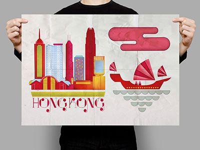Illustration inspiration: Hong Kong by Tina Sharma
