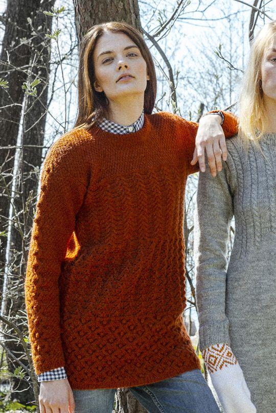 Strukturstickad damtröja Novita Nalle | Novita knits