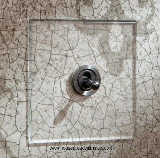 Invisible Clear Perspex Dolly Light Switches