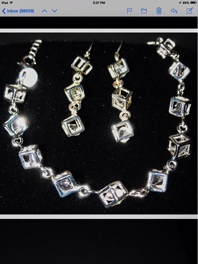 Think outside the box!  This beautiful sterling silver bracelet has cz's that sparkle every time you move.  $20  Matching earrings $15 www.SterlingExpressions.org