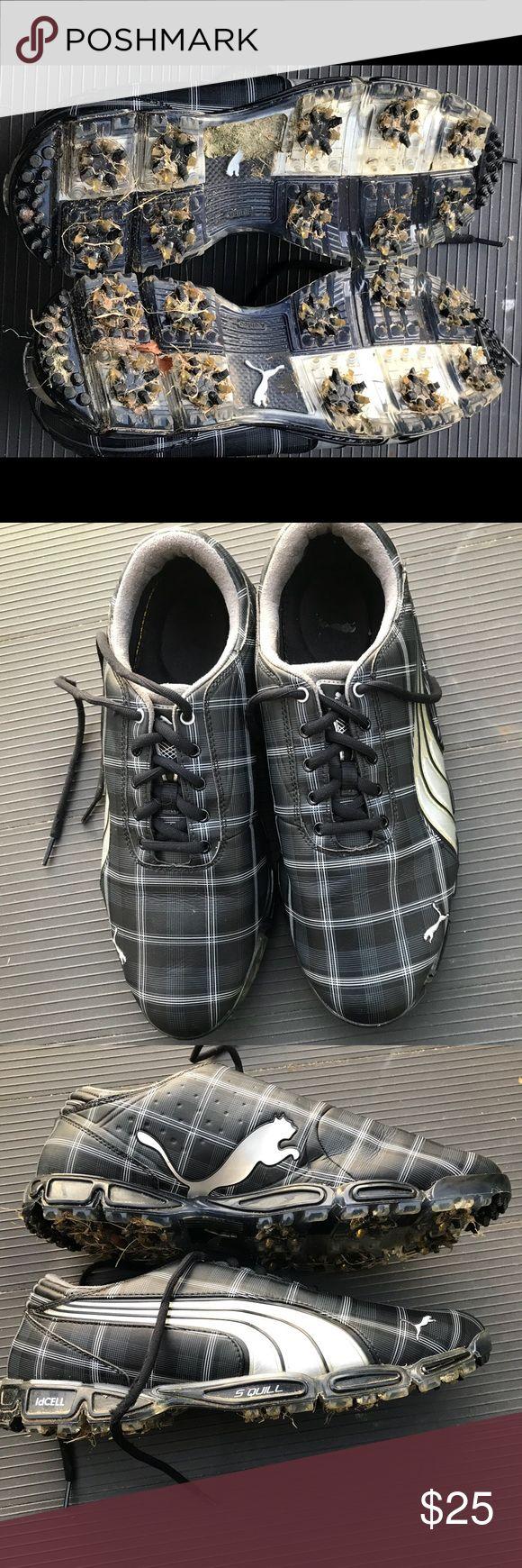 Rare Richie Fowler Plaid Black Golf Shoes Size 11 Rickie Fowler Rare Plaid Golf Shoes Puma Shoes Athletic Shoes