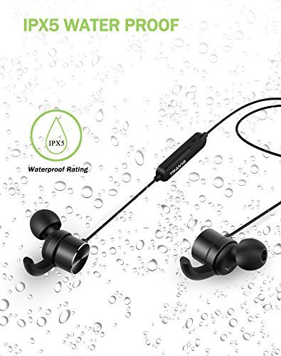 89bd6dae4a0 Tranya Bluetooth In-ear Wireless Sports Headphones Sweat Proof, Magnetic  Design, Secure Fit Earbuds, Built-in Microphone Headset for Running, Jogging