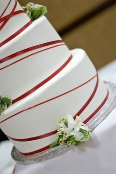 Wedding, Cake, Red