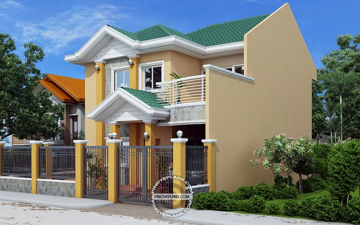 Johanne - 2 Story House Plan with Firewall | Pinoy ePlans - Modern House Designs, Small House Designs and More!