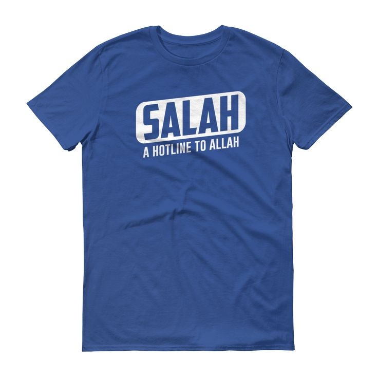 Just added to our store!! SALAH - A Hotline...  Check it out here: http://www.zakatees.com/products/salah-a-hotline-to-allah-short-sleeve-t-shirt?utm_campaign=social_autopilot&utm_source=pin&utm_medium=pin