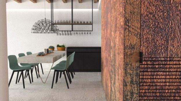 Návrh jedálne - interiér rodinného domu, Záhorská Bystrica, Bratislava - Interiérový dizajn / Dining room interior by Archilab