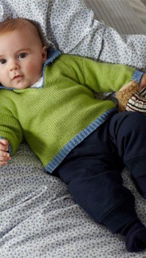 Baby bluse i strik   Familie Journal