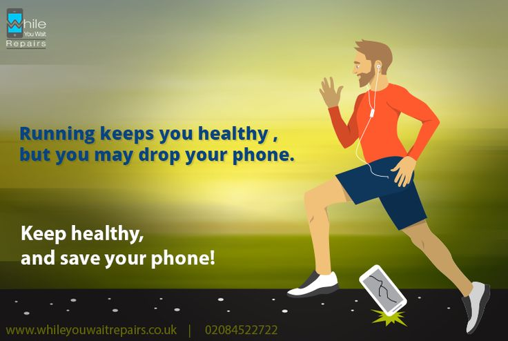 Running keeps you healthy,  but you may drop your phone. Keep healthy and save your phone!