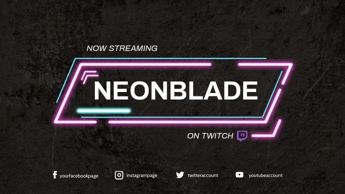 Twitch Banner Template Gaming Posters Banner Template Twitch