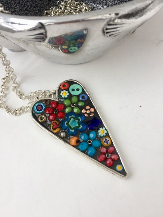 31 best my mosaic pendants images on pinterest heart pendant micro mosaic pendant camilla klein by camillaklein aloadofball Image collections