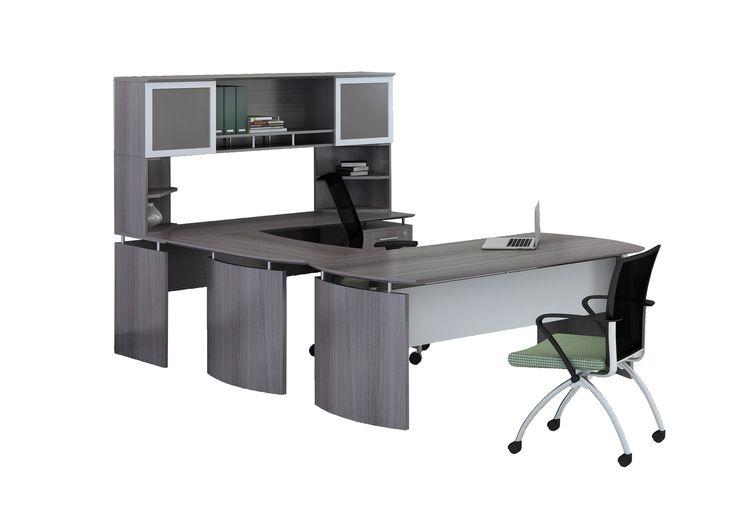 computer desk office. medina series ushape computer desk with hutch office