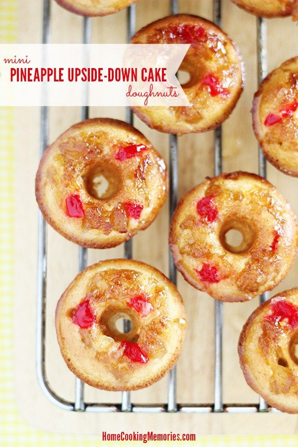 Mini-Pineapple-Upside-Down-Cake-Doughnuts-Recipe