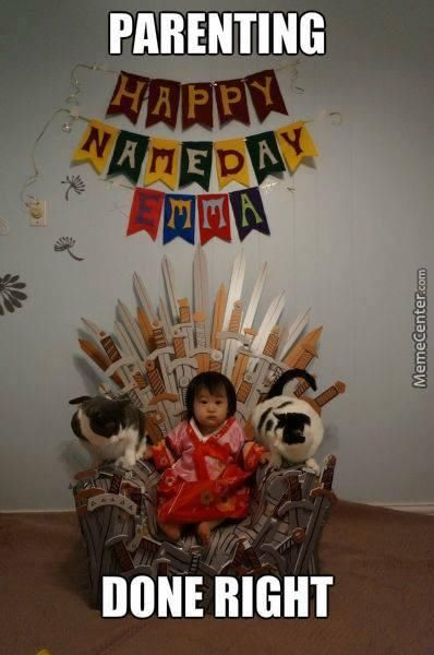 This would go along with the Game of Thrones nursery idea I had...