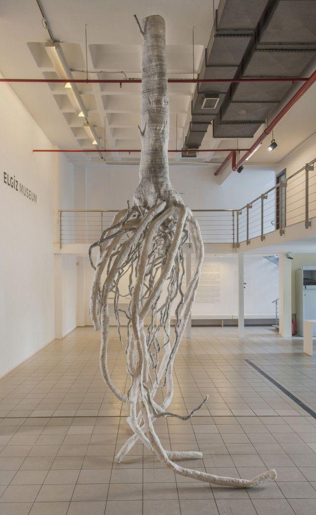Azade Kker Rhizom 2013 2015 Paper Installation 400 X
