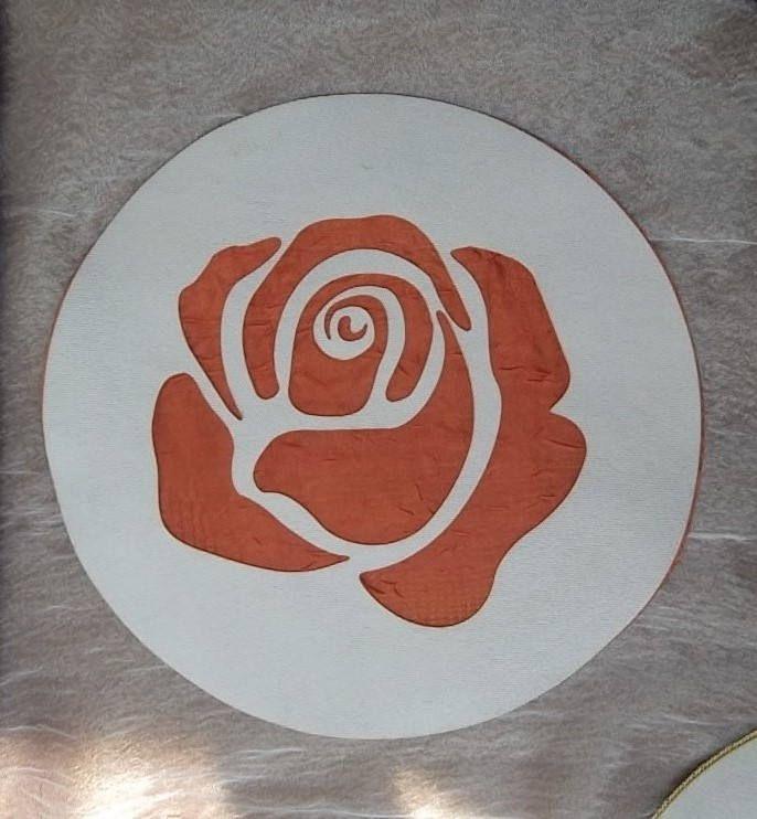 Inserto tessuto - organza Rosa da applicare su cuscini, tende, tovaglie, copriletti,....lavabile di ImprontaCreativaMac su Etsy
