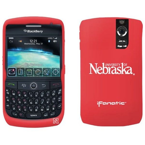 Nebraska Cornhuskers Scarlet BlackBerry Curve Silicone Case - $7.99