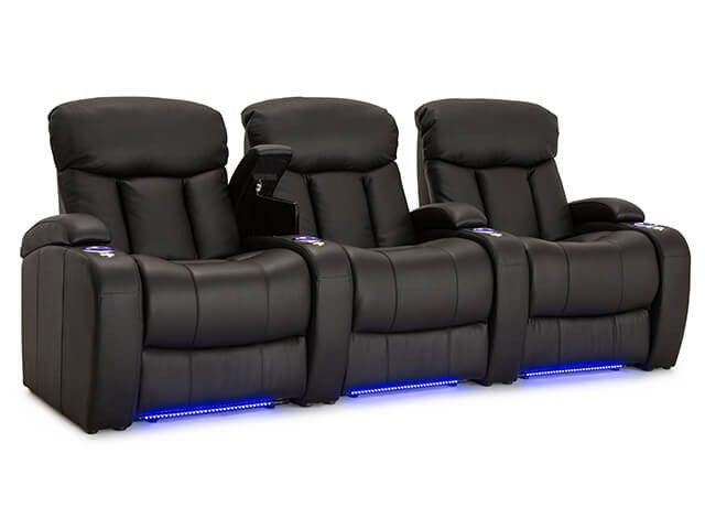 The Grenada Theater seat is an ultra-padded home theater seat from Seatcraft that was designed to combine functionality, support, and comfort in one incredible package. This model is a part of Seatcraft's exclusive Leather 7000 series, which painstakingly hand-picks from the top 30% of all hides to build the ultimate luxury chair. The Grenada highlights a three-section back with overstuffed headrests, with full bucket seating for premium lower body relaxation.