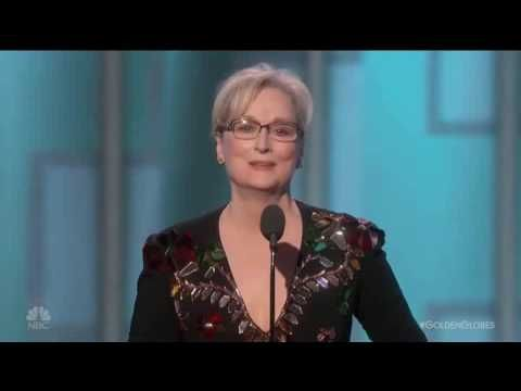 Meryl Streep gives astounding anti-Trump speech during Golden Globes—with note to media (Video)