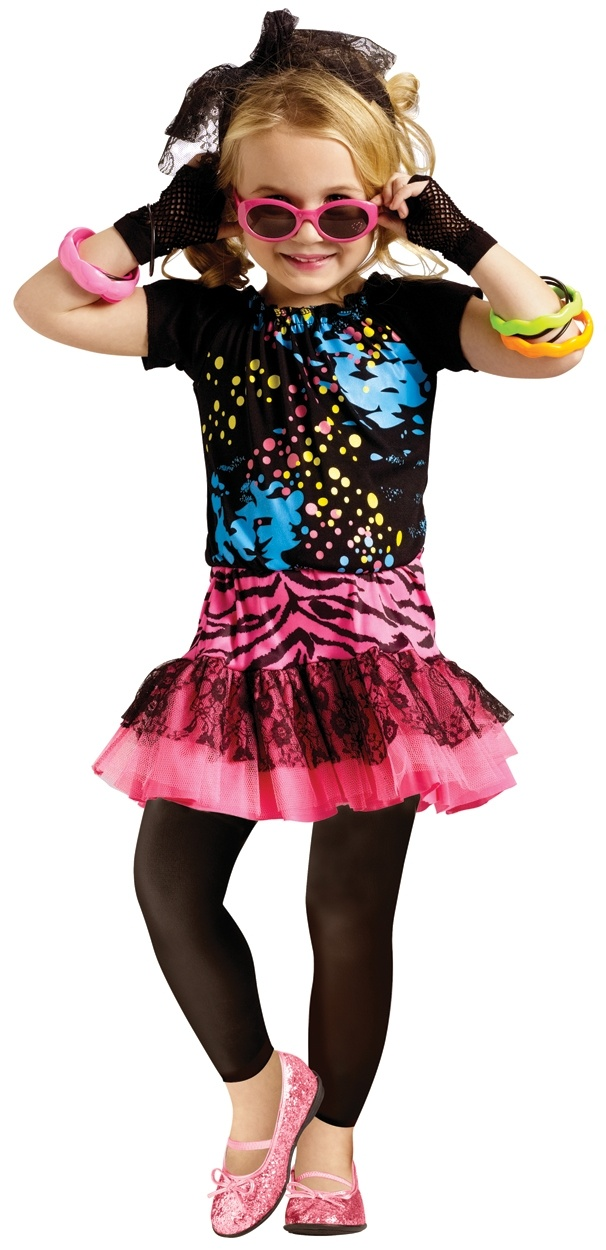 Rock Star Clothes For Girls Party Costume For Toddlers Toddler Girls 80s Dress Halloween