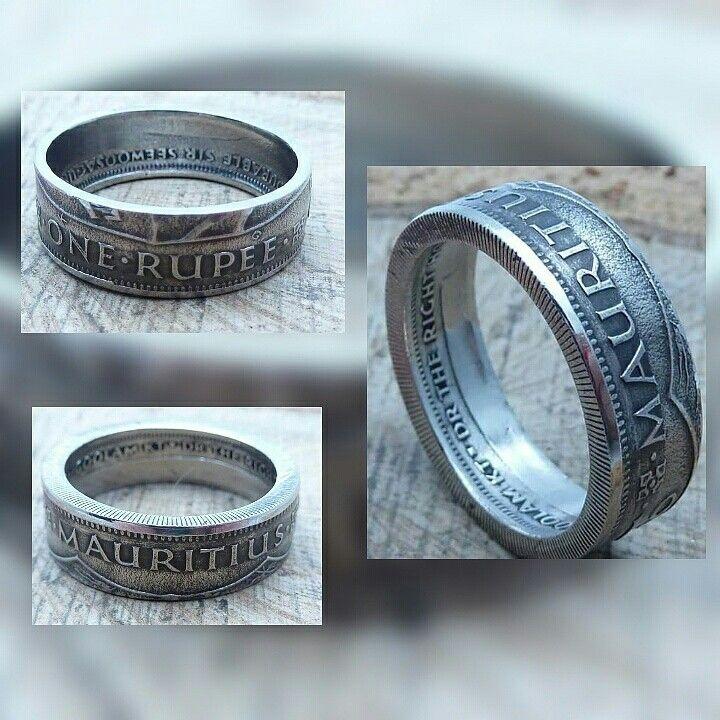 www.muenzenringe.de Mauritius am Finger 😀 #ring #coin #coinring #mauritius #traum #dream #dawanda #naumburg #meer #hammer #graft #eyecatcher #clam #fashion #beauty #chic #handmade #graft #perfekt #insel #maldives #indonesian #indischerozean #tauchen