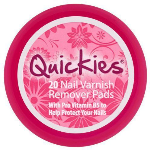#Quickies Convenience Nail Varnish Remover Pads Pack of 20