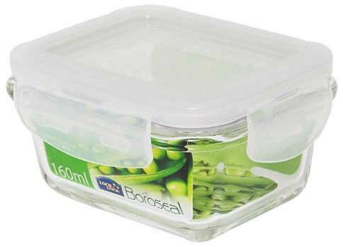 Boroseal II 0.7 Cup Heat Resistant Rectangular Glass Container with Lid