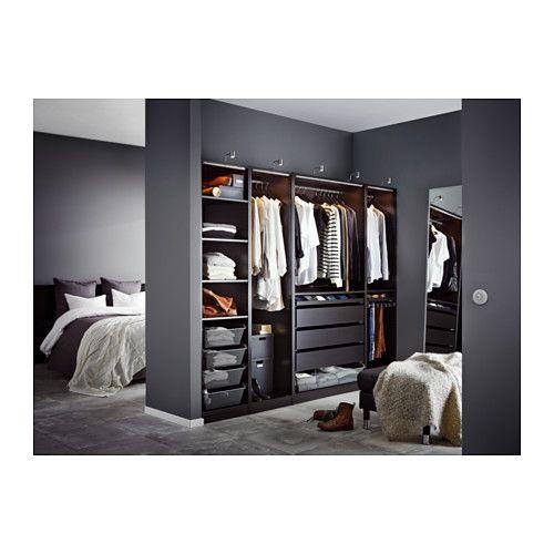 洋室3#のウォークインクローゼットの左壁にには250cm幅(ブラックブラウン)を設置 PAX ワードローブ - 250x58x201 cm - IKEA