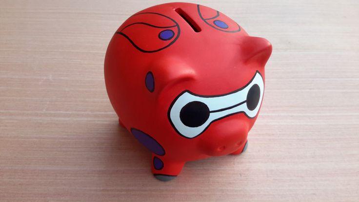 Baymax Piggy Bank by FuzzBird on Etsy https://www.etsy.com/listing/229757780/baymax-piggy-bank