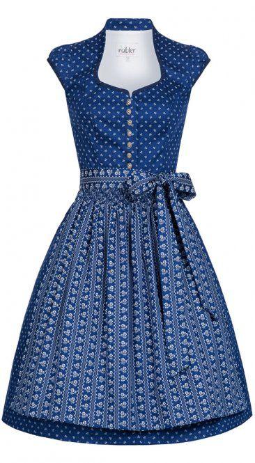 Dirndl midi Clara in Blau von Nübler 42