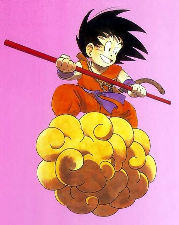 This is a picture of Lucrative Goku On Nimbus Drawing