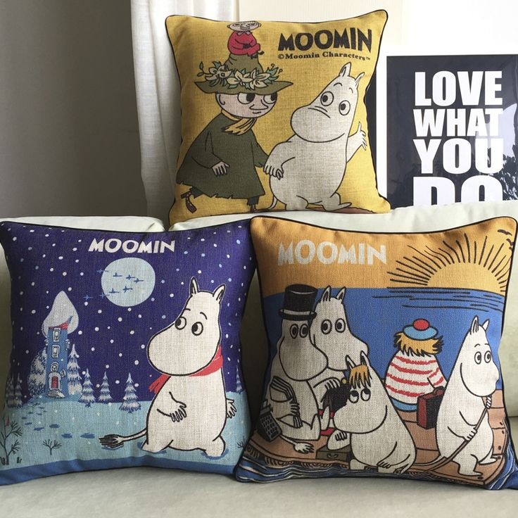 Free Shipping Wholesaler 100% New 2015 Pillow Cover Moomin Cartoon Pattern For Kids Children Love Cute Cushions Covers Good-in Cushion from Home & Garden on Aliexpress.com | Alibaba Group