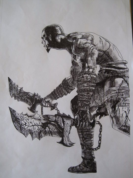 God of war kratos body