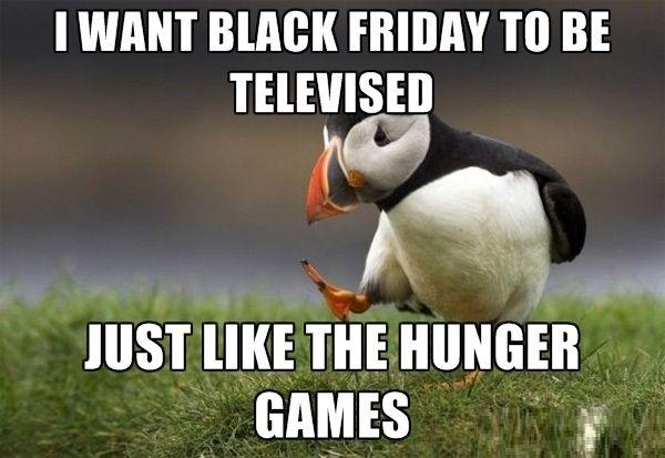 Black Friday Meme hunger games