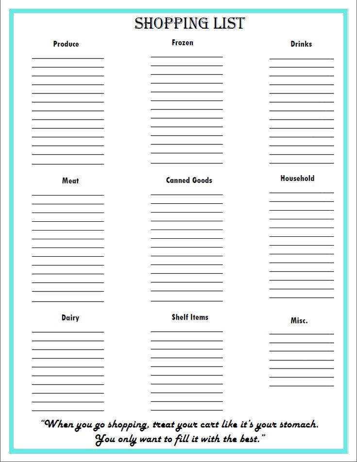 Free Grocery List + Meal Planning Printables - My Own Home