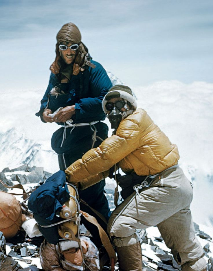 Sir Edmund Hillary & Tenzing Norgay, Mount Everest, 1953
