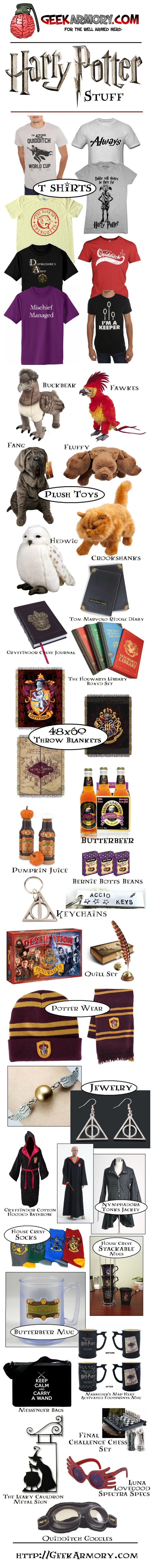 Harry Potter Stuff...@... http://geekarmory.com/?s=harry+potter I want it all...