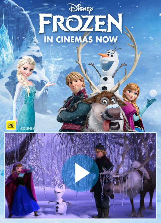 Frozen Full Page Rich Media with Click to download Video Trailer