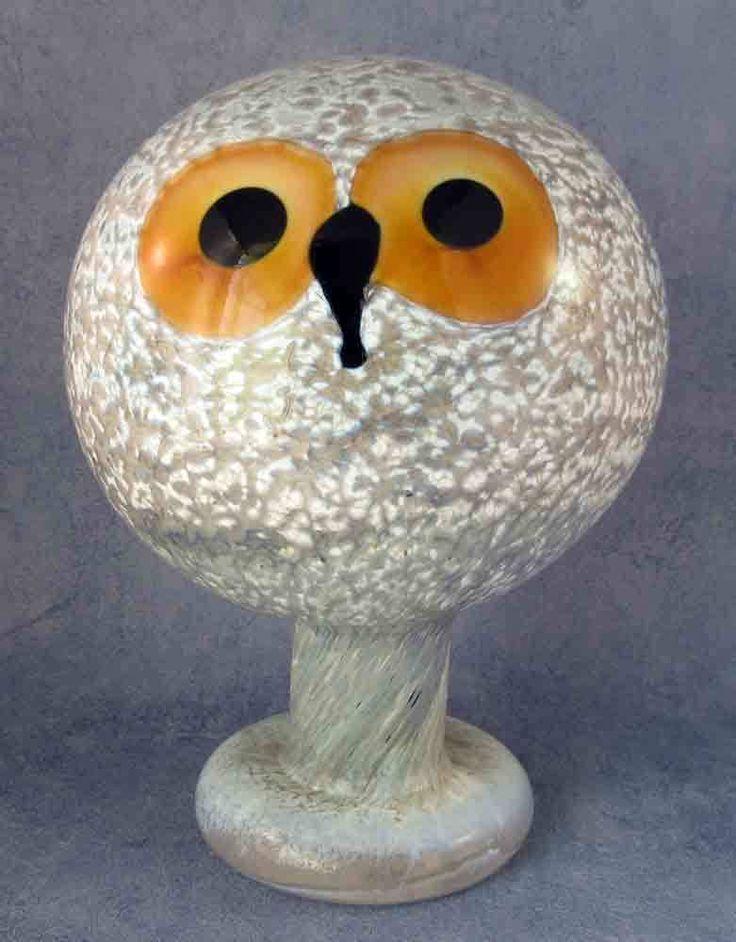 Iittala Oiva Toikka Art Glass Bird Helmipöllö Tengmalm's Owl Excellent | eBay
