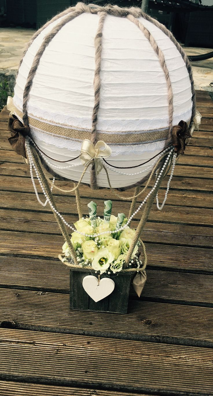 Hochzeit Ballon Geschenk