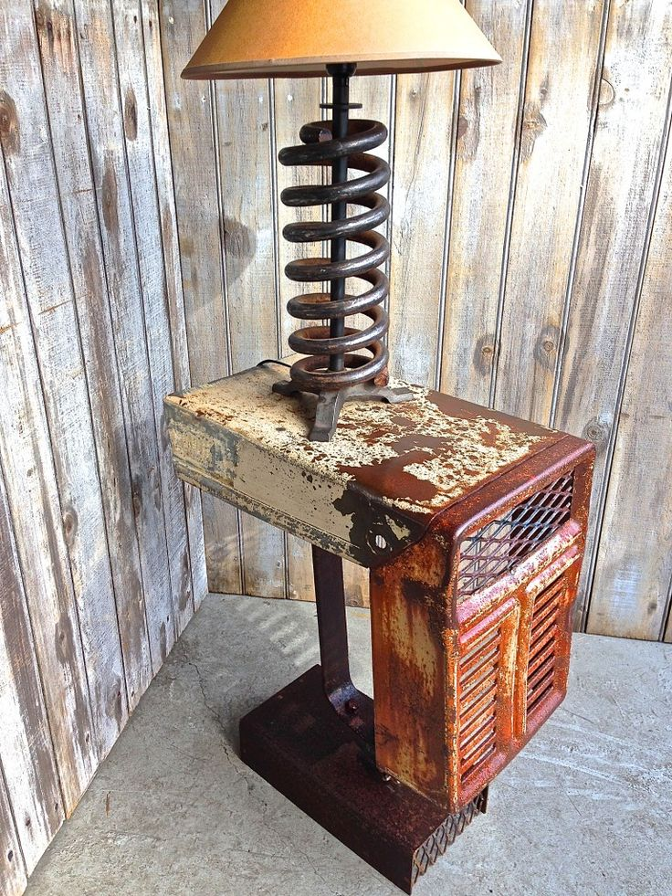 Antique Tractor Furniture : Garden tractor hood side table craft ideas pinterest